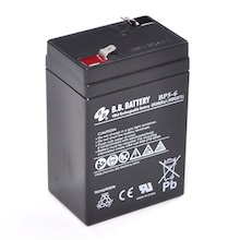 6V 5Ah Batteria, Batteria Piombo-Acido (AGM), B.B. Battery BP5-6, 70x48x102 (LxLAxA), Terminale T1 Faston 187 (4,75 mm)