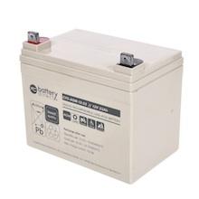 12V 33Ah Batteria Piombo-Acido ciclica, battery-direct CYC-AGM-12-33, 195x129x155 (LxLAxA), Terminale B7 (vite M6)