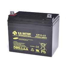 12V 33Ah Batteria, Batteria Piombo-Acido (AGM), B.B. Battery EP33-12, 195x129x155 (LxLAxA), Terminale B7 (vite M6), Standard Type