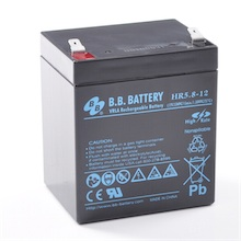 12V 5.8Ah Batteria, Batteria Piombo-Acido (AGM), B.B. Battery HR5.8-12, 90x70x102 (LxLAxA), Terminale T2 Faston 250 (6,3 mm)