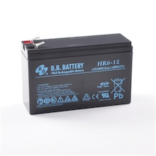 12V 6Ah Batteria, Batteria Piombo-Acido (AGM), B.B. Battery HR6-12, 151x51x94 (LxLAxA), Terminale T2 Faston 250 (6,3 mm)