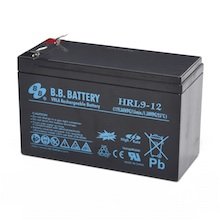 12V 9Ah Batteria, Batteria Piombo-Acido (AGM), B.B. Battery HRL9-12, 151x65x94 (LxLAxA), Terminale T2 Faston 250 (6,3 mm)