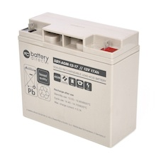 12V 17Ah Batteria Piombo-Acido, battery-direct SBY-AGM-12-17, 181x77x167 (LxLAxA), Terminale B1 (vite M5)