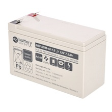 12V 7.2Ah Batteria Piombo-Acido, battery-direct SBY-AGM-12-7.2, 151x65x94 (LxLAxA), Terminale T2 Faston 250 (6,3mm)