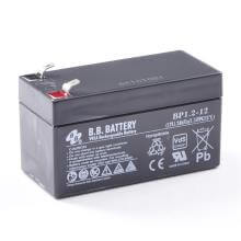 12V 1.2Ah Batteria, Batteria Piombo-Acido (AGM), B.B. Battery BP1.2-12, VdS, 97x45x53 (LxLAxA), Terminale T1 Faston 187 (4,75 mm)