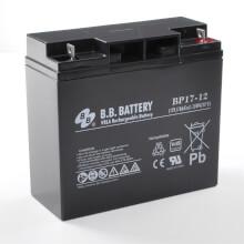 12V 17Ah Batteria, Batteria Piombo-Acido (AGM), B.B. Battery BP17-12, VdS, 181x76x166 (LxLAxA), Terminale B1 (vite M5)