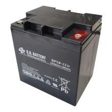 12V 28Ah Batteria, Batteria Piombo-Acido (AGM), B.B. Battery BP28-12D, 165x125x175 (LxLAxA), Terminale TP (terminale rotondo, bulloni stanziali M5)