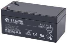12V 3.6Ah Batteria, Batteria Piombo-Acido (AGM), B.B. Battery BP3.6-12, 134x67x60 (LxLAxA), Terminale T2 Faston 250 (6,3 mm)