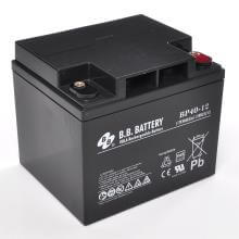 12V 40Ah Batteria, Batteria Piombo-Acido (AGM), B.B. Battery BP40-12, VdS, 197x165x171 (LxLAxA), Terminale I2 (inserisci femmina M6)