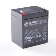 12V 5Ah Batteria, Batteria Piombo-Acido (AGM), B.B. Battery BP5-12, 90x70x102 (LxLAxA), Terminale T2 Faston 250 (6,3 mm)