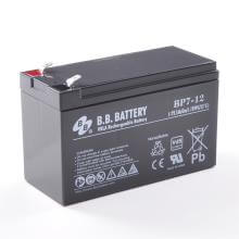 12V 7Ah Batteria, Batteria Piombo-Acido (AGM), B.B. Battery BP7-12, VdS, 151x65x93 (LxLAxA), Terminale T2 Faston 250 (6,3 mm)