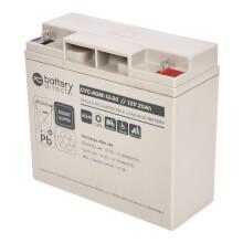 12V 20Ah Batteria Piombo-Acido ciclica, battery-direct CYC-AGM-12-20, 181x76x166 (LxLAxA), Terminale B1 (vite M5)