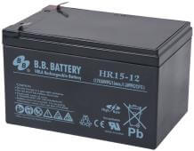 12V 15Ah Batteria, Batteria Piombo-Acido (AGM), B.B. Battery HR15-12, 151x98x94 (LxLAxA), Terminale T2 Faston 250 (6,3 mm)