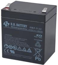 12V 5.5Ah Batteria, Batteria Piombo-Acido (AGM), B.B. Battery HR5.5-12, 90x70x102 (LxLAxA), Terminale T2 Faston 250 (6,3 mm)