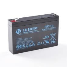 6V 9Ah Batteria, Batteria Piombo-Acido (AGM), B.B. Battery HR9-6, 151x34x94 (LxLAxA), Terminale T2 Faston 250 (6,3 mm)