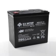 12V 55Ah Batteria, Batteria Piombo-Acido (AGM), B.B. Battery MPL55-12, 228x139x200 (LxLAxA), Terminale I2 (inserisci femmina M6)