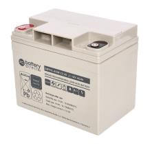 12V 40Ah Batteria Piombo-Acido, battery-direct SBYHL-AGM-12-40, 195x129x168 (LxLAxA), Terminale I2 (Inserisci femmina M6)