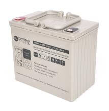 12V 55Ah Batteria Piombo-Acido, battery-direct SBYHL-AGM-12-55, 228x139x200 (LxLAxA), Terminale I2 (Inserisci femmina M6)